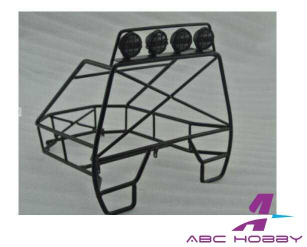 1/10 crawler Rear Roll Cage voor JEEP D90 Axiale SCX10 Rc8WD Trail Finder TF2 RC Truck met LED