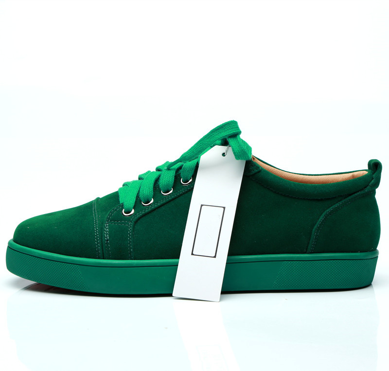 SHOOEGLE Plus Size39 47 Chaussures Hommes Men Green Suede Sneaker Lace up Flat Low Top Shoes Men Runway High Quality Shoes - 6