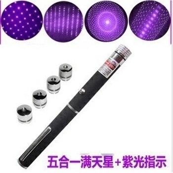 5 in1 gwiazda niebo 405nm 100 mW fioletowy wskaźnik laserowy/5 wzory