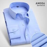 5XL 6XL 7XL 8XL Large Men Shirt 2017 New Men S Dress Shirt Solid Color Long