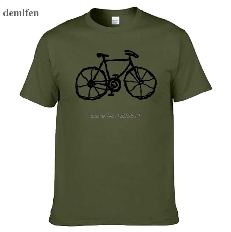 Cycl Bicycle Fashion Unique Classic  Men Round Collar Short Sleeve T-shirt Design Funny Tops Tees