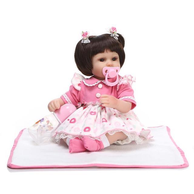 3ff3dd124 18 inch lovely girl Sleeping Dolls Silicone Reborn Doll Baby ...