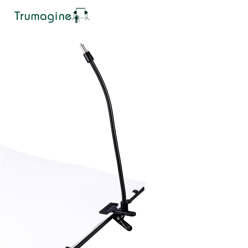 TRUMAGINE 1PC Lighting Stand Screw Head Photo Studio Accessories Magic Iron Strong Clamp <font><b>Pipe</b></font> Connection Black