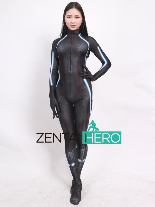 ZentaiHero 2017 Black Widow Costume 3D Printed Female Superhero Costume Newest Game Cosplay Costume Zentai Catsuit For Halloween (3)