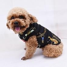 Pet Clothes Dog Clothes Autumn Winter Dog Coat Cotton Dog Clothes Winter Vest Black Blue Warm Jackets  For Small Medium Dogs blue dog