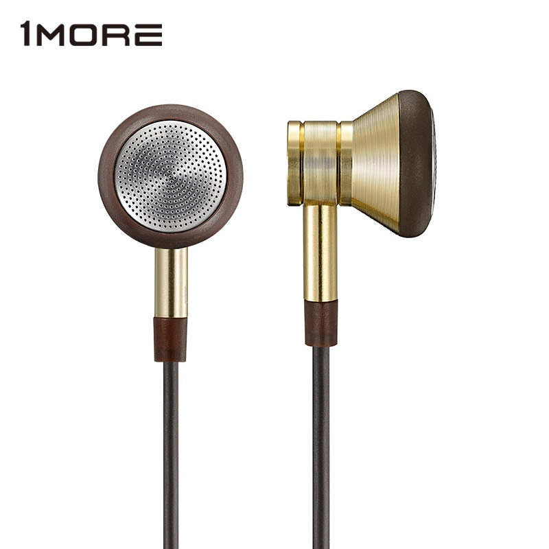 1MORE EO303 Piston Earbuds in-Ear Earphone for phone, Super Bass Metal in Ear Earphones with Microphone and Remote Gold kanen ip 608 stylish in ear earphones w microphone clip red white 3 5mm plug 120cm