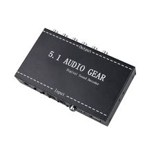 5.1 Audio Gear 2 in 1 5.1 Channel AC3/DTS 3.5mm Audio Gear Digital Surround Sound Decoder Stereo (L/R) Signals Decoder HD Play стоимость