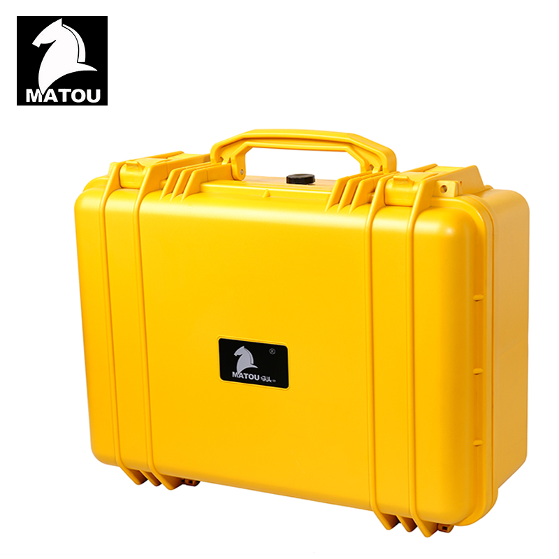 Tool case toolbox waterproof protective equipment case camera case suitcase with pre-cut foam lining Panel installation box