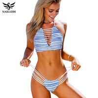 NAKIAEOI Bikini 2016 Summer Swimwear Biquini Women Sexy Beach Swimsuit Bathing Suit Push Up Brazilian Bikini