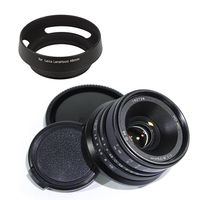 Pixco 25mm F1.8 HD.MC Manual Focus Lens for Micro Four Thirds Micro 4/3 mount GX8 GX85 G7 or for Nex mount A6500 A6300 + Gift