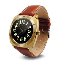 2016 heißer verkauf smartwatch dm88 smart watch bluetooth4.0 pulsmesser leder tragbare geräte für ios android pk kw88 iwo
