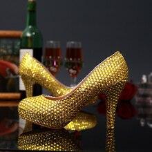 Frauen Schuhe 2016 Kristall Hochzeit Schuhe Strass Braut High Heels Pumps Prinzessin Abend Partei Elegante Schuhe