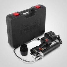 Электрический смазочный шприц беспроводные Батарея 18V 107 см 8000PSI тяжелый+ 2 батареи