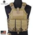 Emersongear Hunting Tactical Vest Airsoft Emerson Combat 094K M4 Pouch Vest Gear Plate Carrier EM7356A Khaki
