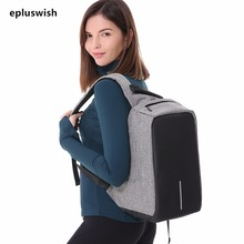 Luggage Bags - Backpacks - Multifunction USB Charging Men 15inch Laptop Backpacks For Teenager Fashion Male Mochila Leisure Travel Backpack Anti Thief Bag
