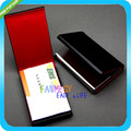 Leather Business Name Credit ID Card Holder Wallet Case Pocket Box Case New Black