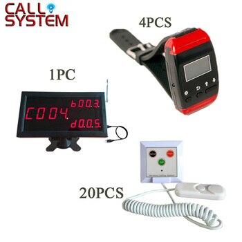 433,92 MHz inalámbrico enfermera sistema de llamada de emergencia médica llamada de servicio para Hospital