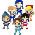 6 pcs/set Sailor Moon plush toys Moon Venus Neptune classic anime girl dolls 15cm free shipping