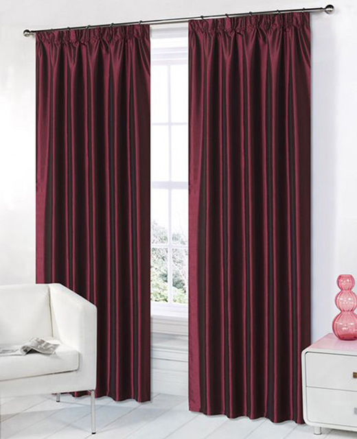 Kitchen Curtain Material: Curtains Kitchen Window Solid Color Taffeta Fabric Window