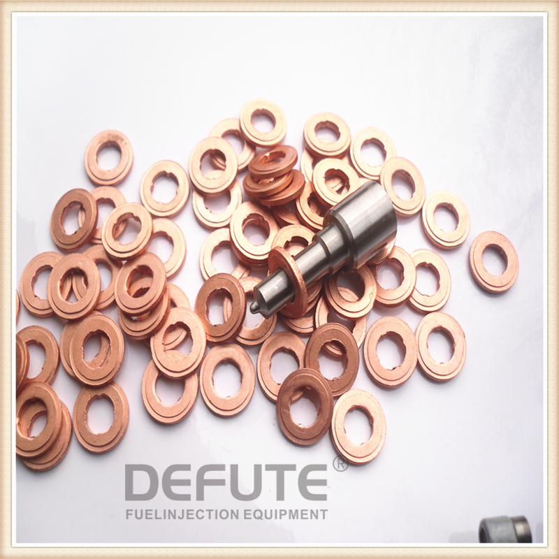 F00VC17503 Injector Copper Rings Washers Shims Gasket F 00V C17 503 Size 7.7X15.1X1.5(mm) Thickness 1.5mm Injection Heat Shield