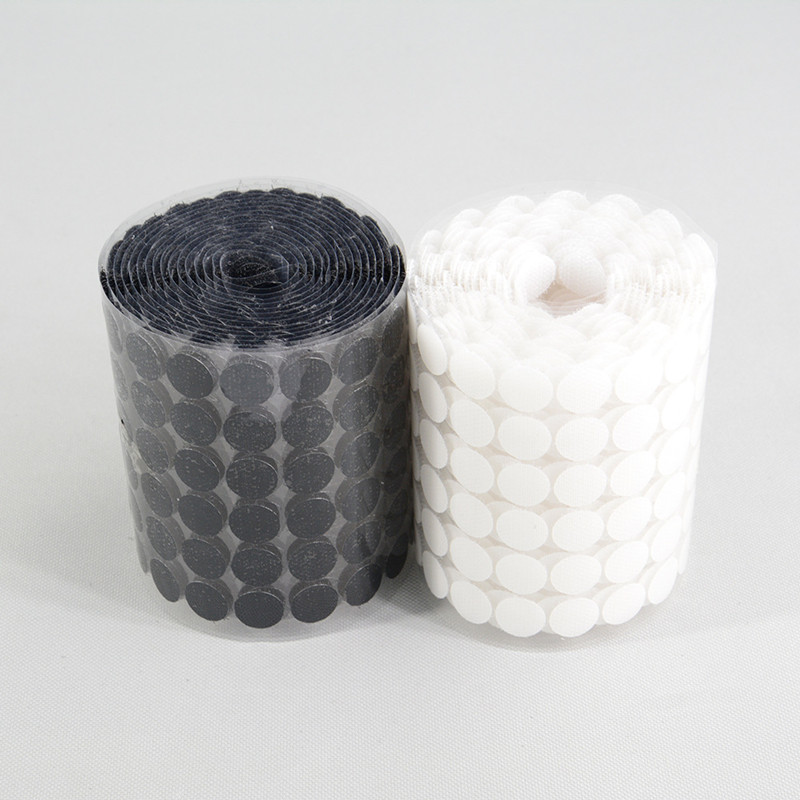 500 Pairs 15mm White/black Fastener Tape Nylon Polyester Hooks And Toggles Magic Tattoos Sticker Tape Strong Self Adhesive Tape