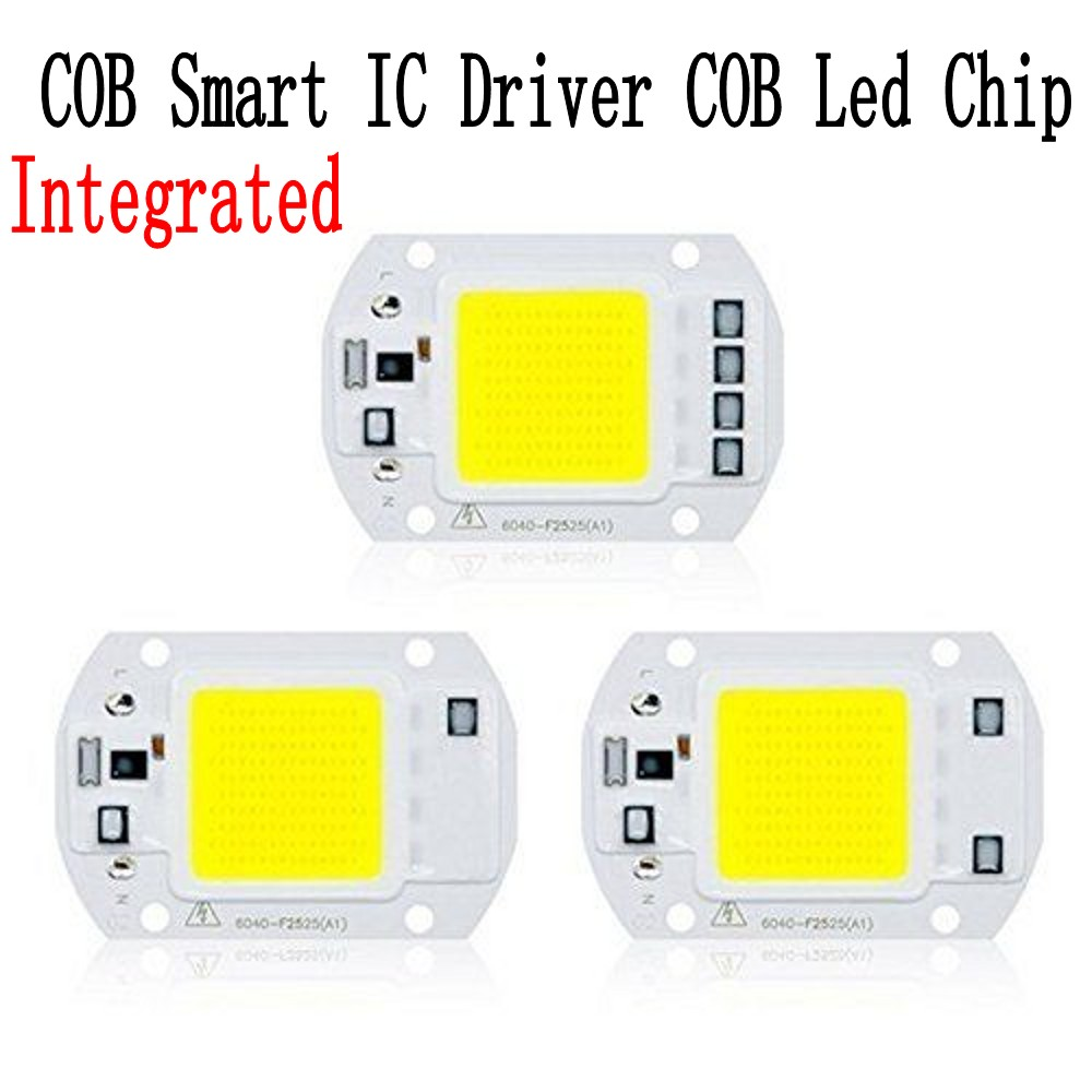Integrated COB Chip 20W 30W 50W Smart IC Driver High Power Led Lamp Chip LED Spotlight DIY Flood Light Cold Neutral Warm White high power led matrix for projectors 15w 25w 35w 50w diy flood light cob smart ic driver led diode spotlight outdoor chip lamp