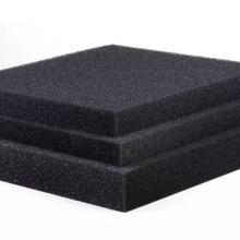 50 см x 50 см x 2 см черная фильтрующая пена для аквариума, биохимический фильтр для аквариума, губчатая подушечка, скиммер для длительного использования, емкость для подачи губки