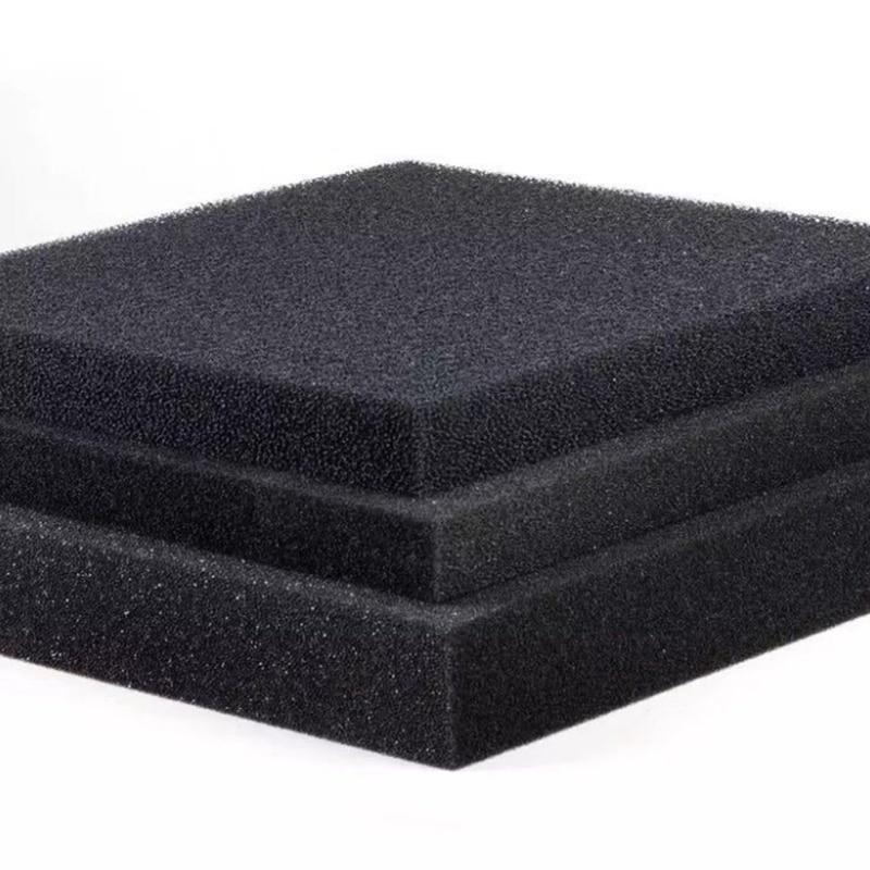 50cmx50cmx2cm Black Filtration Foam Aquarium Fish Tank Biochemical Filter Sponge Pad Skimmer Long Use Time Sponge Supply Tank