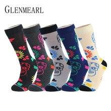 Algodão meias masculinas qualidade primavera outono marca compressão de negócios coolmax padrão vestido feliz masculino tripulação meias mais tamanho