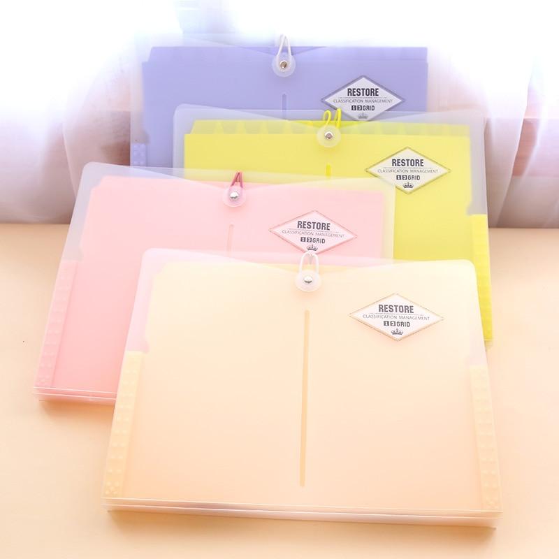 Korean Office File Folders Multi-layer Expanding File Folder A4 Portable Paper Document Bag  Folders For Documents A4 Bag