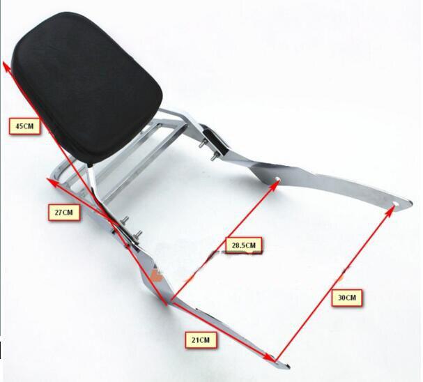 Спинка Сисси бар багажная сетка для YAMAHA Dragstar XVS650 встарь на заказ 400 1998+2013