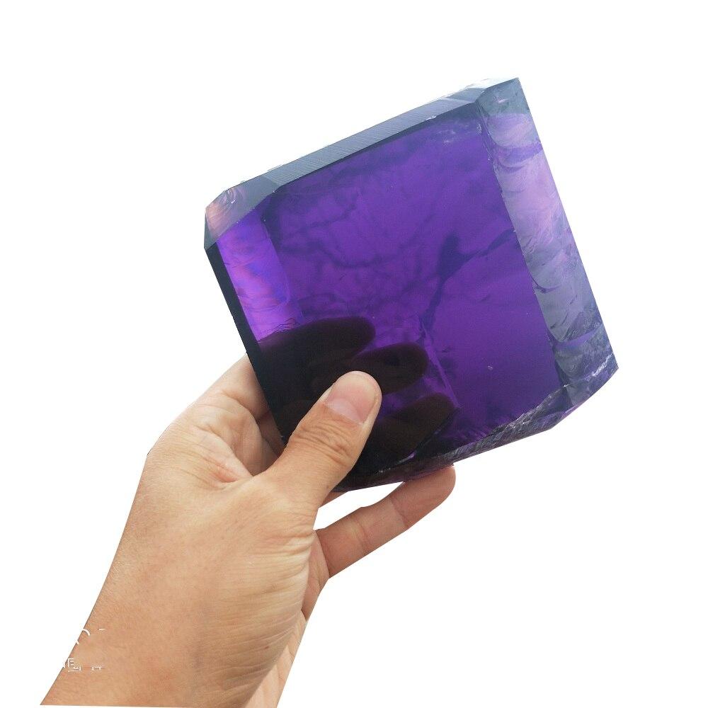 Améthyste synthétique Quartz violet cristal Cube islandais Spar roche énergie de guérison cristal pierre décoration de maison ou de mariage