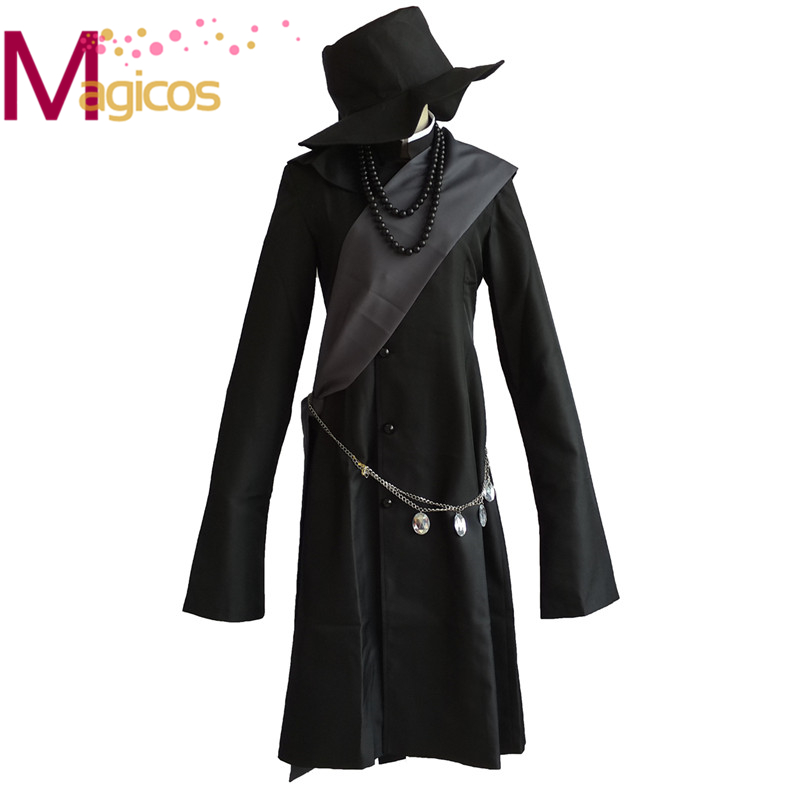 Black Butler Kuroshitsuji Undertaker Cosplay Halloween Party Costume Custom Made Full Set