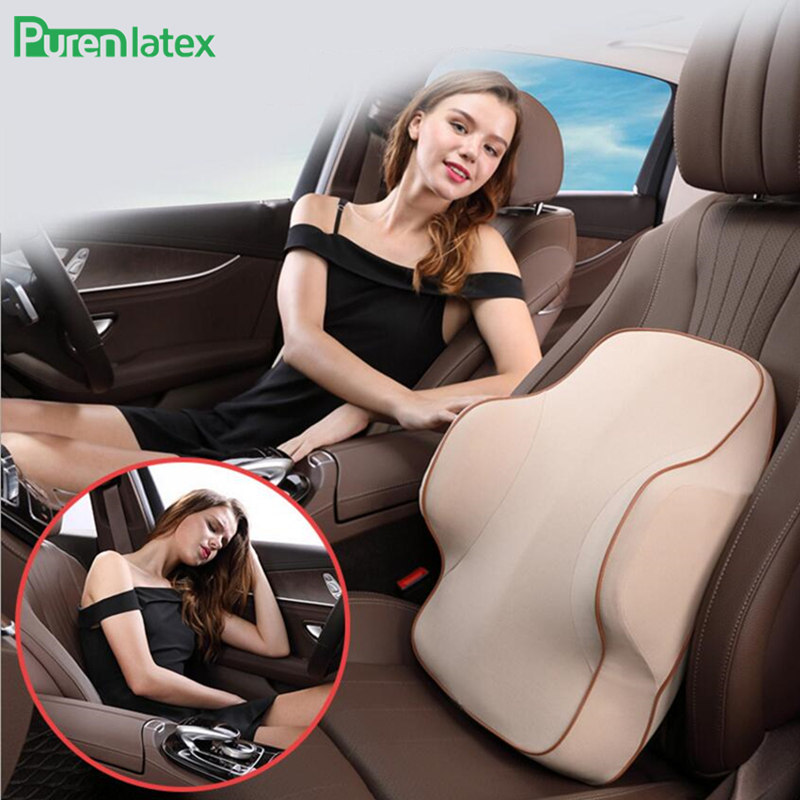 3D Surrounded Car Driving Seat Waist Cushion Back Rest Lumbar Support Orthopaedic Pillow Vertebra Protect Thick Driver Backrest