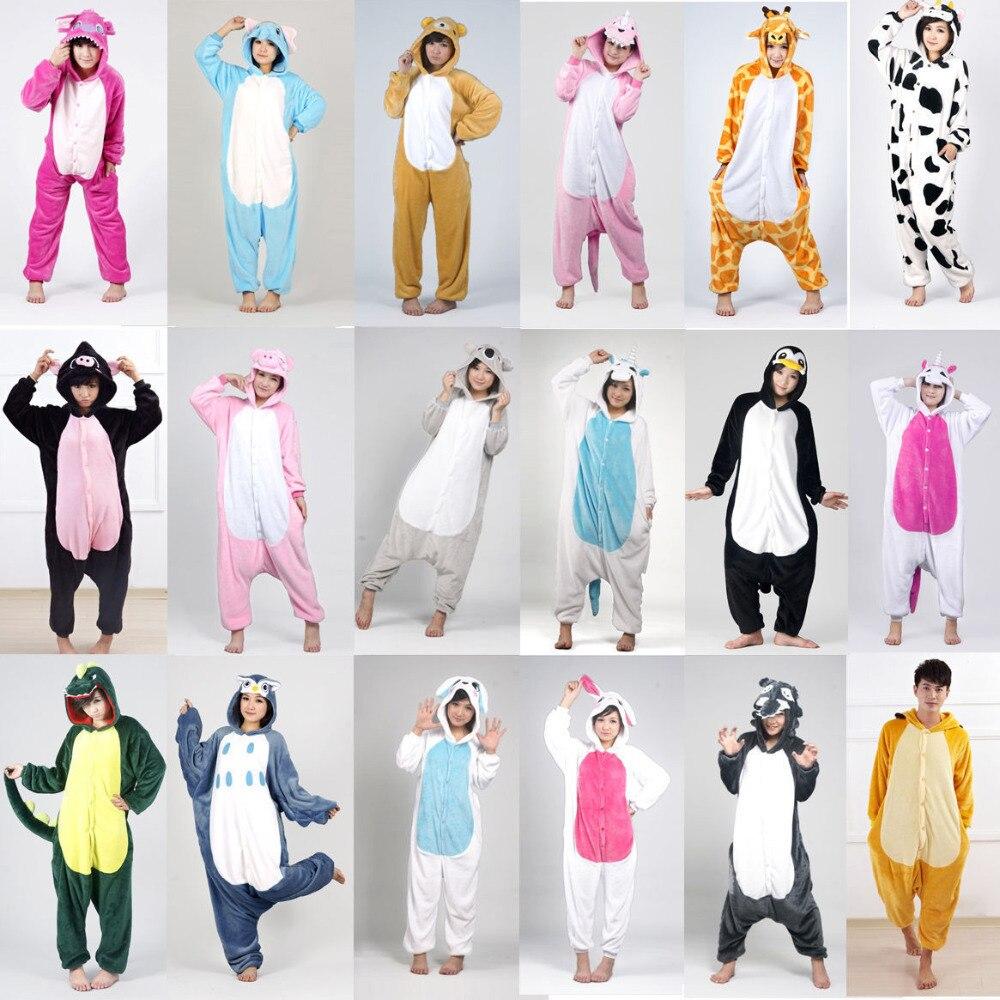 Симпатичные Единорог пижамы осень-зима Для женщин Домашняя одежда, для взрослых Пижама мультфильм животных пижамы для мальчиков и девочек ...
