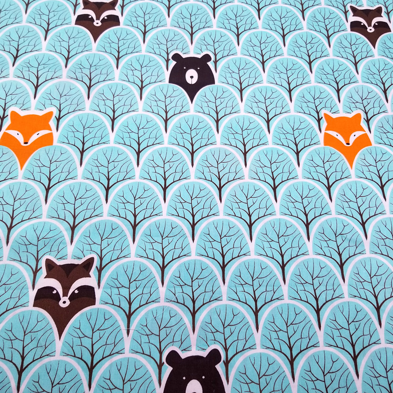 Blue Bear Printed Twill Cotton Fabric Cotton Patchwork Cloth DIY Sewing Quilting Fat Quarters Material For Baby Child in Fabric from Home Garden