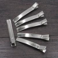 Ücretsiz Kargo 50/100 adet 78mm Çift Prong DIY için Gümüş Düz Metal Timsah Saç Klipler Barrette Yaylar tokalar, saç Aksesuarı