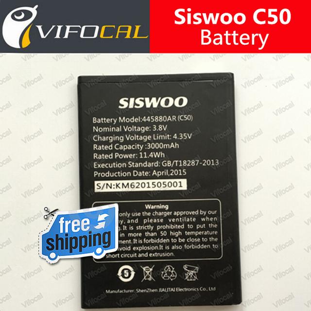Siswoo C50 Batería 3000 mAh 100% Original Nuevo Reemplazo accesorio acumuladores Para Siswoo C50A Teléfono Celular