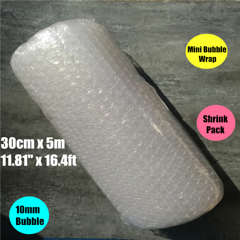 0.3 * 5m shrink pack Burbuja Cushion Bubble Roll wrap Polietileno Emballage Bulle Packing Film Materials Noppenfolie Verpakking