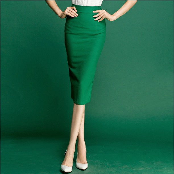 Popular Green Long Pencil Skirt-Buy Cheap Green Long Pencil Skirt ...
