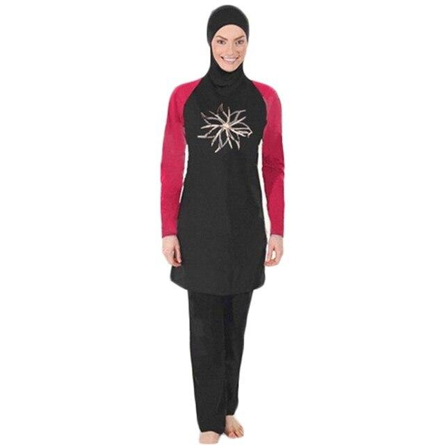 Costumi da bagno delle donne Abbigliamento spiaggia per Musulmani Arabo  Costumi Da Bagno Sulla Spiaggia a ... e08be21c7bae