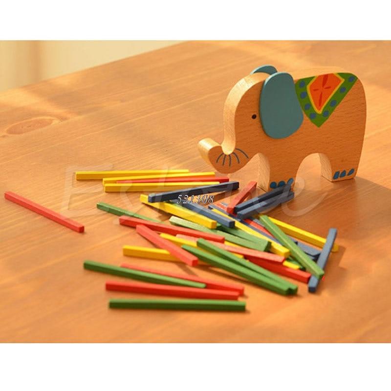 Bayi Mainan Pendidikan Gajah Unta Menyeimbangkan Blok Mainan Kayu - Mainan bangunan dan konstruksi - Foto 3