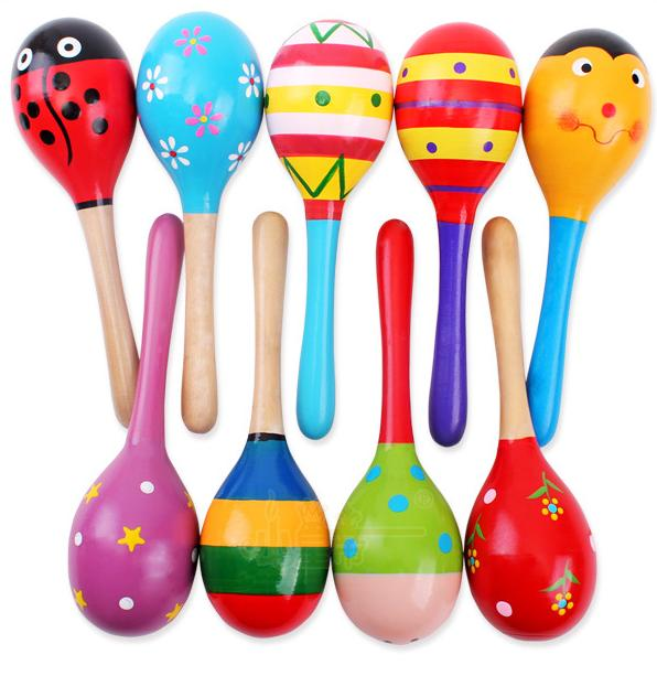Sand Hammer Musical-Instrument Wooden Baby Kid 1pc Percussion Ball-Toy Rattle GYH Infant