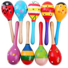 1 шт. детский деревянный мяч игрушка песок молоток погремушка музыкальный инструмент ударный младенец GYH