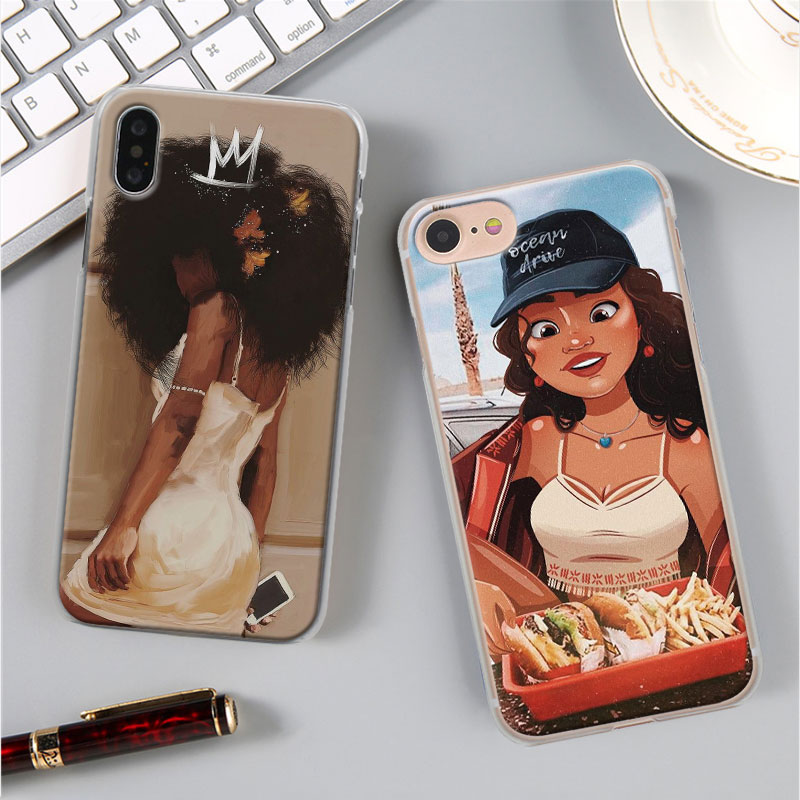 Beautiful Afro Girls Phone Case for Apple iPhone