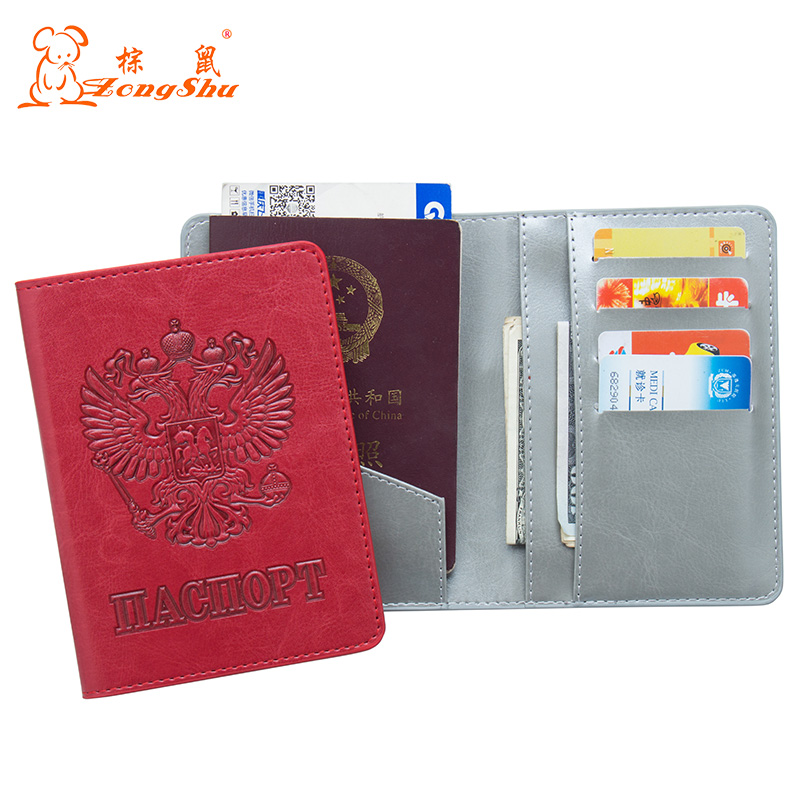 Coin Purses & Holders Card & Id Holders Devoted Red Oil Fashion Double Eagle Convenient Pu Leather Passport Holder Built In Rfid Blocking Protect Personal Information Less Expensive