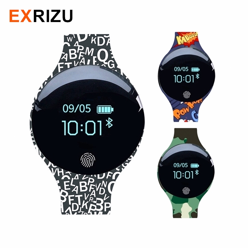 EXRIZU Bluetooth Smart Bracelet Sport Health Band Pedometer Sleep Activity Tracker Fitness Watch Smart Wristband for iOS Android image