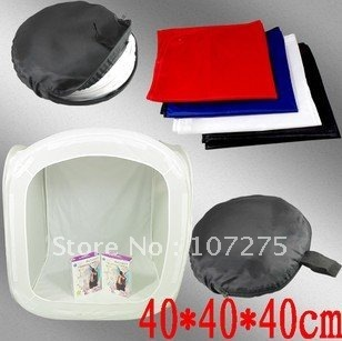"Free shippment:Retial+wholesale:16"" 40 x 40cm Photo Studio Shooting Tent Light Cube Box - 4 backgrounds included"