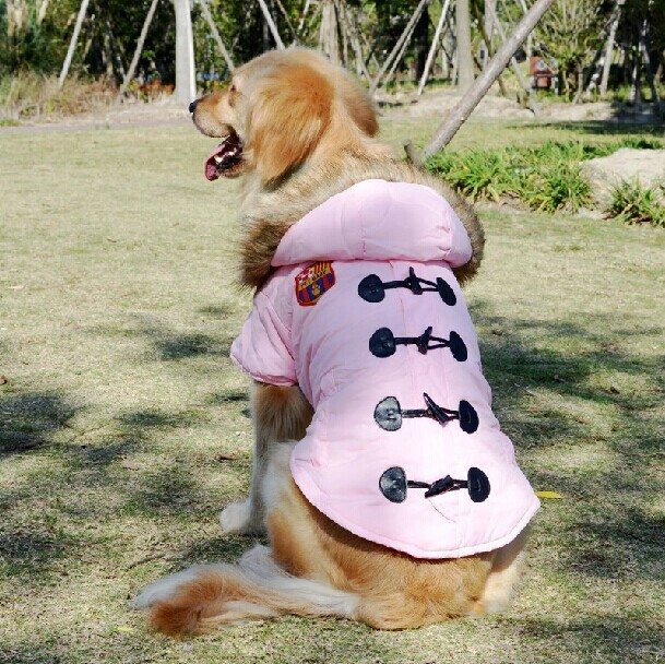 Large Big Dog Winter Clothes Golden Retriever Windbreaker Hoody