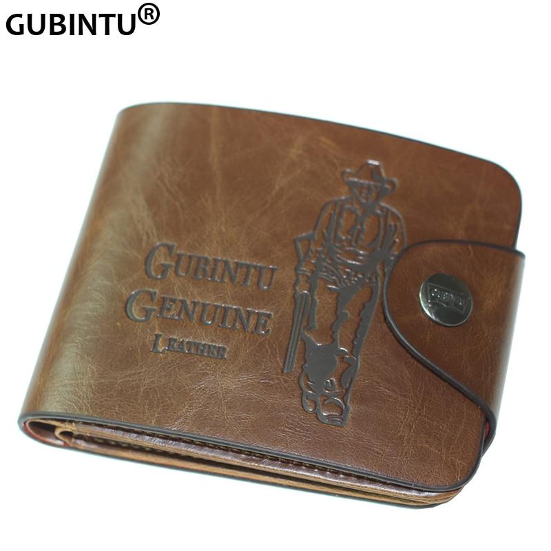 Purse Wallets Men Hunter Crazy Bailini Stylish Vintage Brand with 7-Card Slots F239-1